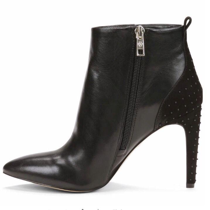 Nuevo Ann Botines Taylor Para Mujer botas Botines Ann de tacón Lisa 3  Talla 8.5 - de cuero negro con cremallera 58ddfe
