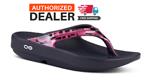 OOFOS-OOLALA-GEO-SANDAL-Pink-Women-039-s-Thong-Flip-Flop-Recovery-NEW