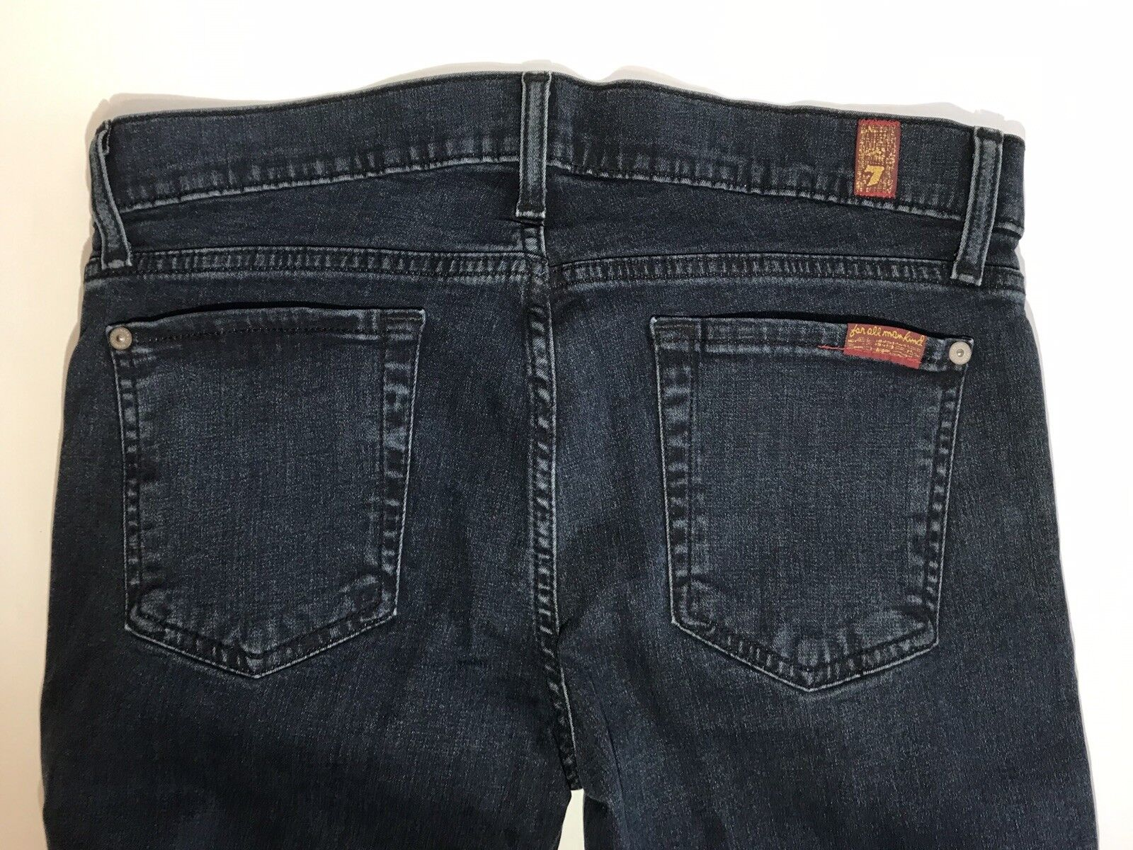 7 For All Mankind Skinny Bootcut Jeans Womens Size 29 Dark Wash