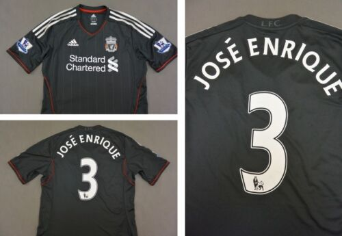 The Reds 201112 adidas Liverpool FC Away Shirt JOSE ENRIQUE 3 SIZE M adults