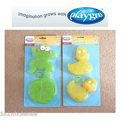 ❤ Playgro 6 x Pieces Baby Bath Time Stick 'Ems Frog or Duck Fun Kids ❤