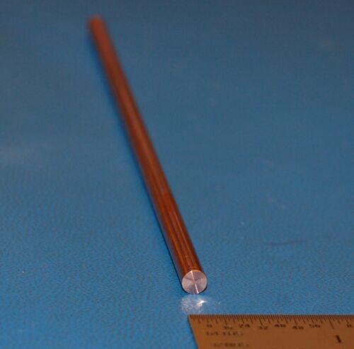 "Copper Rod Dia Oxygen-Free OHFC x 12/"" 4.76mm .1875/"""