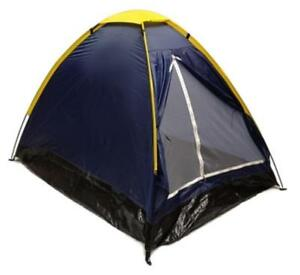 BLUE-DOME-CAMPING-TENT-7x5-039-2-Person-Two-Man-NAVY-ORANGE-Sealed-Bottom-NEW