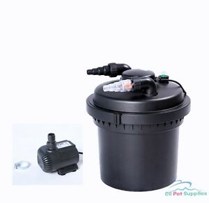 2100 gal pressure pond filter w 13w uv sterilizer koi for Koi fish pond water pump