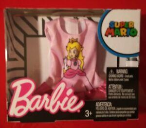 Barbie-Doll-Super-Mario-Peach-Shirt-Mattel