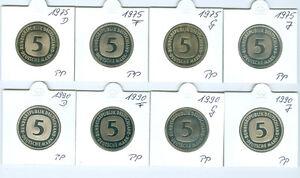 Rfa 5 DM 1975 dfgj - 1990 dfgj pp entièrement (64 pièces!)