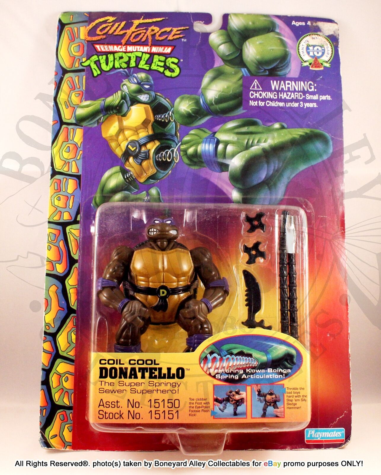 1996 TMNT COIL FORCE COIL COOL DONATELLO NEW-PLAYMATES