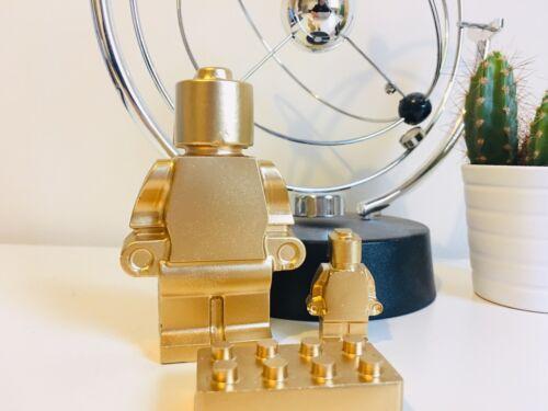 Gold Edition x1 di grandi dimensioni, x1 e x1 MINI Mattone Calcestruzzo LEGO MAN-Gift Set