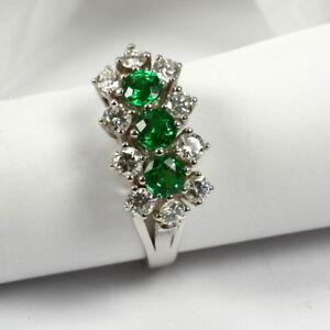 Juwelen-Ring-in-585-Weissgold-mit-Tsavorit-und-Brillant