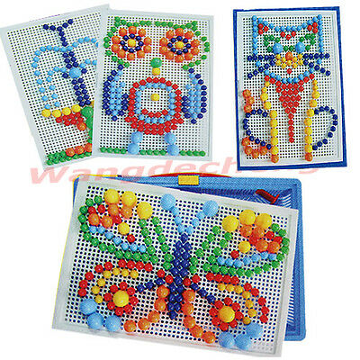 Puzzle Toy Plastic Nail Composite Picture Creative Mosaic Kit  For Kids Children