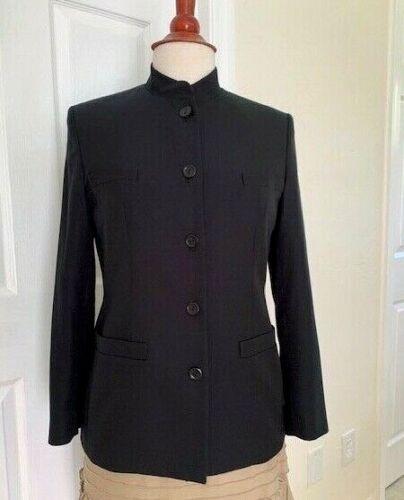 Talbot Women Black Jacket Size 4 Cotton/Silk Mand… - image 1