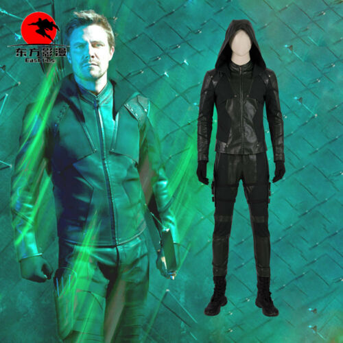 Details about  /DFYM Green Arrow Season8 Oliver Queen Cosplay Costume Outfit Full Suit Halloween