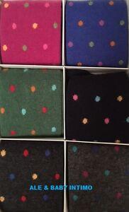 Più affidabile ampia scelta di colori e disegni grande varietà Dettagli su 1 PAIO CALZE LUNGHE CALZINI UOMO CASHMERE LANA SETA PUNTO POIS  IDEA REGALO