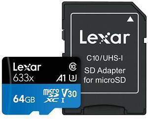 64GB-Lexar-95MB-s-Class-10-UHS-I-U3-A1-SDXC-MicroSD-tarjeta-de-memoria