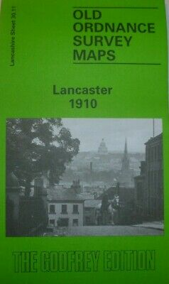 OLD ORDNANCE SURVEY MAP LANCASTER SOUTH 1910 ABERDEEN ROAD ROYAL ALBERT ASYLUM