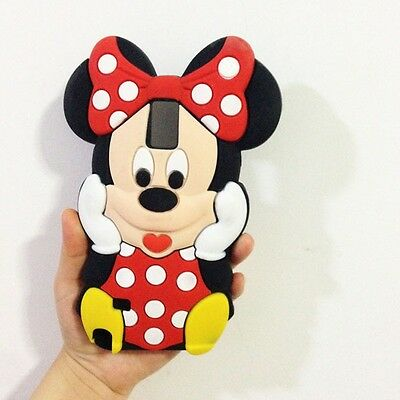 Red Bow 3D Minnie Mouse Soft Silicone Back Case For Samsung galaxy Note 4 N9100