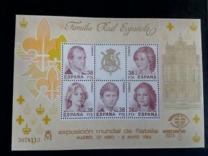 SELLOS-ESPANA-MNH-1984-HB-FAMILIA-REAL-ESPANOLA-BAJO-COSTE