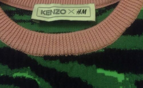 m Kenzo S H nuovo X taglia Nuovo Maglione Pullover tigrato taglie Maglione FABqEAw