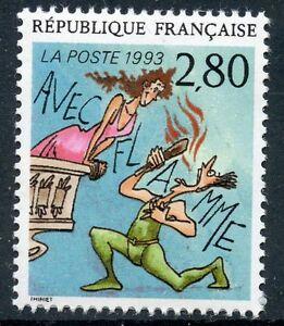 Ouvert D'Esprit Stamp / Timbre France Neuf N° 2840 ** Le Plaisir D'ecrire / Avec Flamme RafraîChissant Et BéNéFique Pour Les Yeux