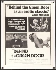 Image Is Loading Behind The Green Door 1972 Original Us Poster