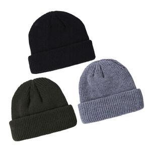 3 Pack Vintage Style Wool Blend Beanie Hat Short Fisherman Sports Skull Hat