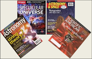 4 Mini /'ASTRONOMY /& SPACE/' Magazines Barbie Blythe  Doll size 1:6 playscale