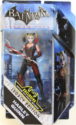 MATTEL Batman Legacy ARKHAM CITY HARLEY QUINN Action Figure