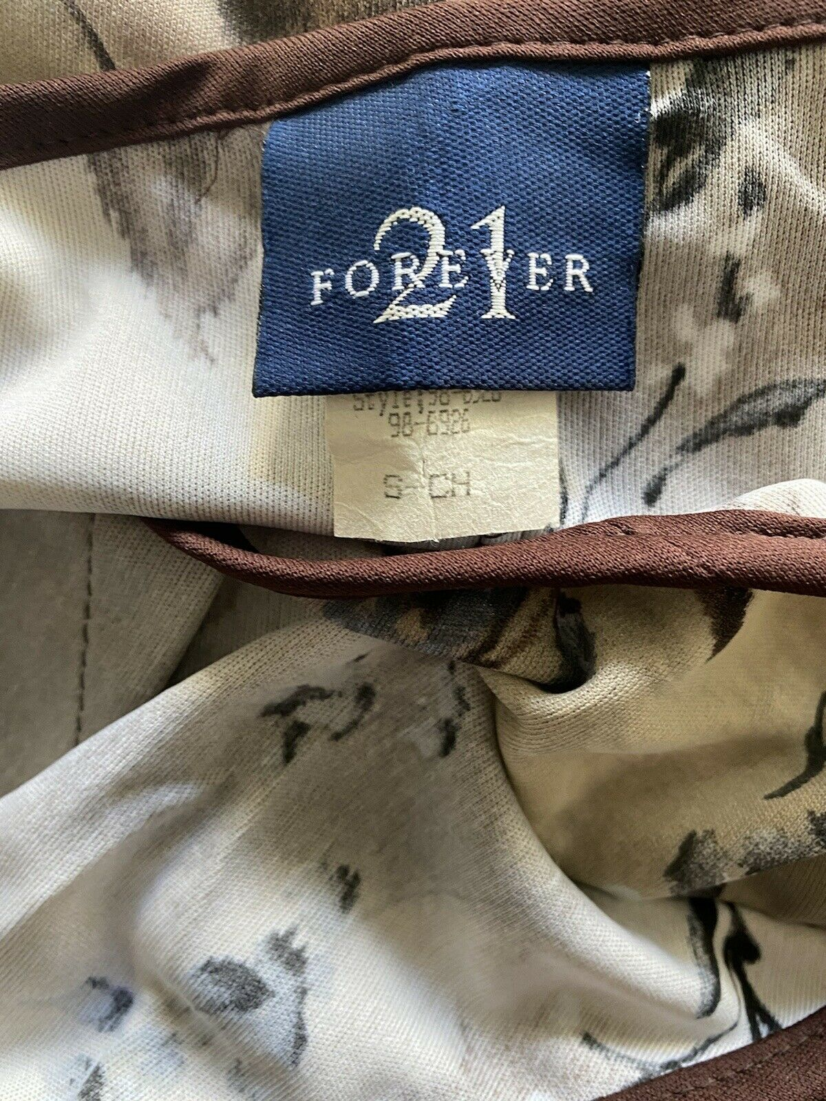 Vintage 90s Forever21 Chocolate Brown Spaghetti S… - image 11