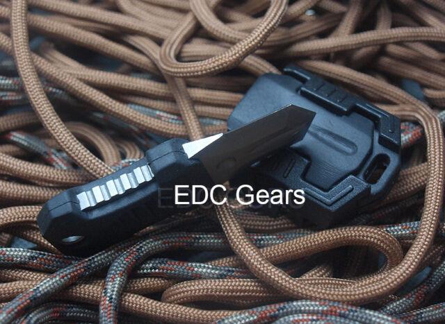 "BLACK Tactical Knife Pocket Shiv Adapter Knuckles MOLLE 1"" System Self Defence"