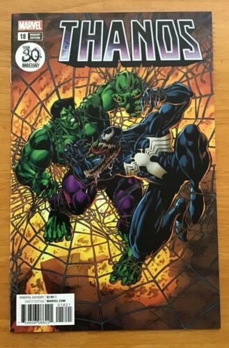 Thanos #18 2018 Mike Perkins Variant Venom 30th Ann Cover  Marvel  NM