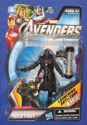 Avengers Nick Fury 3 3//4 movie figure MINT ON CARD
