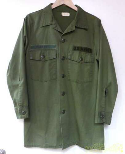 U.S.Army Military Shirt Jacket Khaki L Quite Tailo