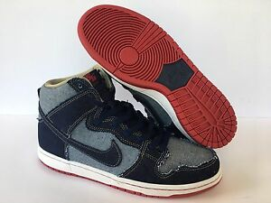 super popular 66cab c8c4a Image is loading Nike-SB-Dunk-High-Denim-Reese-Forbes-Navy-