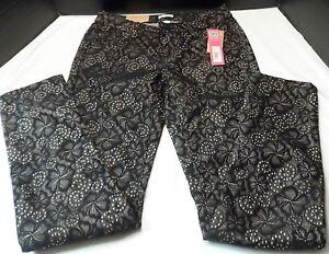 Skinny-Jeans-Juniors-size-5-Slim-Xhilaration-Black-lace-overlay-lower-waist-NWT