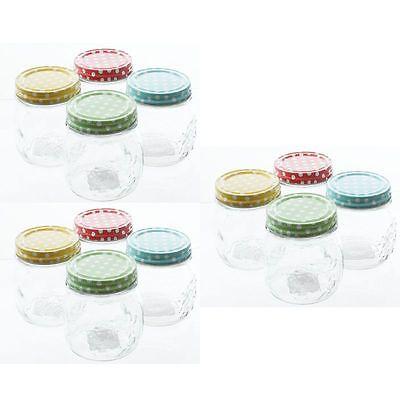 12 Stück Vorratsgläser Schraubverschlußdeckel 250 ml Einmachgläser Vorratsglas
