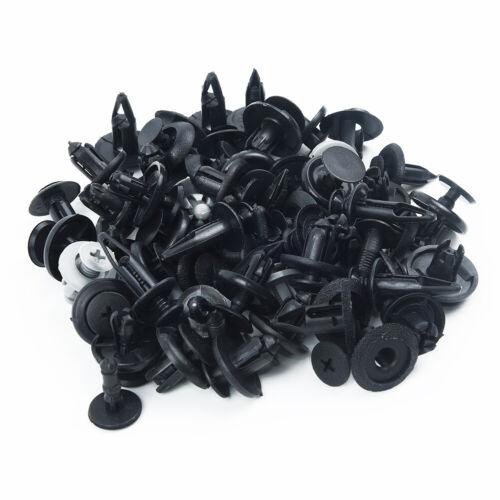Pack Of 100 Mixed Plastic Fastener Screw Rivets Clips Set For Car Bumper Fender