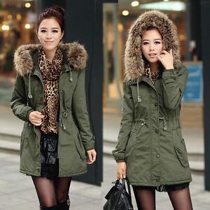 New-Womens-Ladies-Faux-Fur-Hooded-Jacket-Warm-Winter-Zip-Up-Parka-Coat-Outerwear
