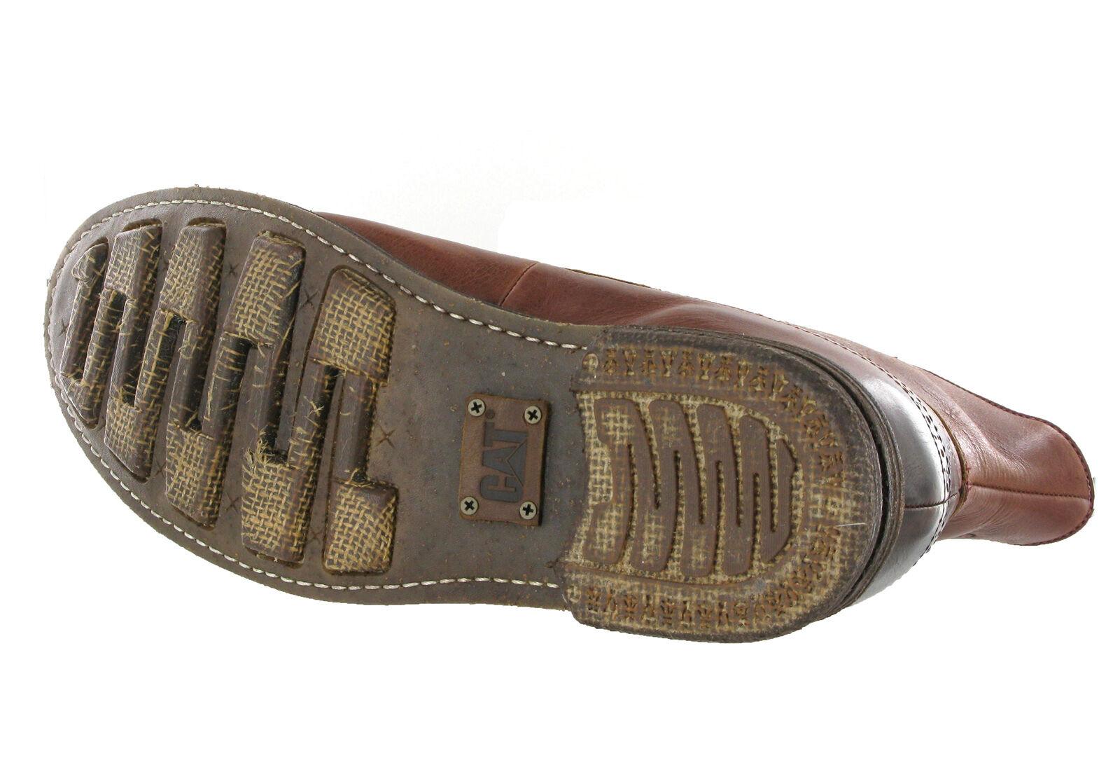 CAT Caterpillar Raw Murray Braun ROT Leder Mens Brogue Ankle Stiefel Gre 6-12
