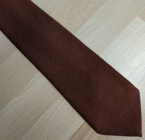 Details about  St Michael Smart Pure New Wool Tie Brown Fieldsports