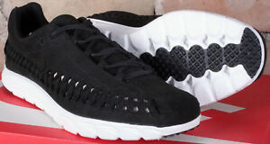 2d48be78d017 Nike Mayfly Woven Black Summit White Low Top Running Shoes 833132 ...