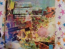 "12"" VERY RARE LP AKARTA BY IANNIS XENAKIS, KRZYSZTOF PENDERCKI (1969) NONESUCH"