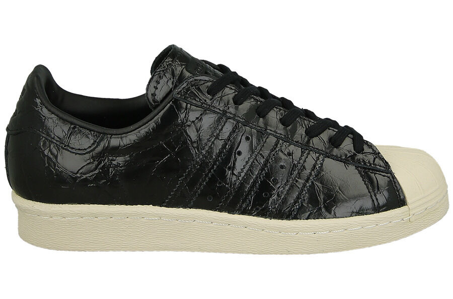 ADIDAS ORIGINALS SUPERSTAR 80 S FEMME ENTRAÎNEURS UK TAILLE 5 BNIB BLACK OFF WHITE
