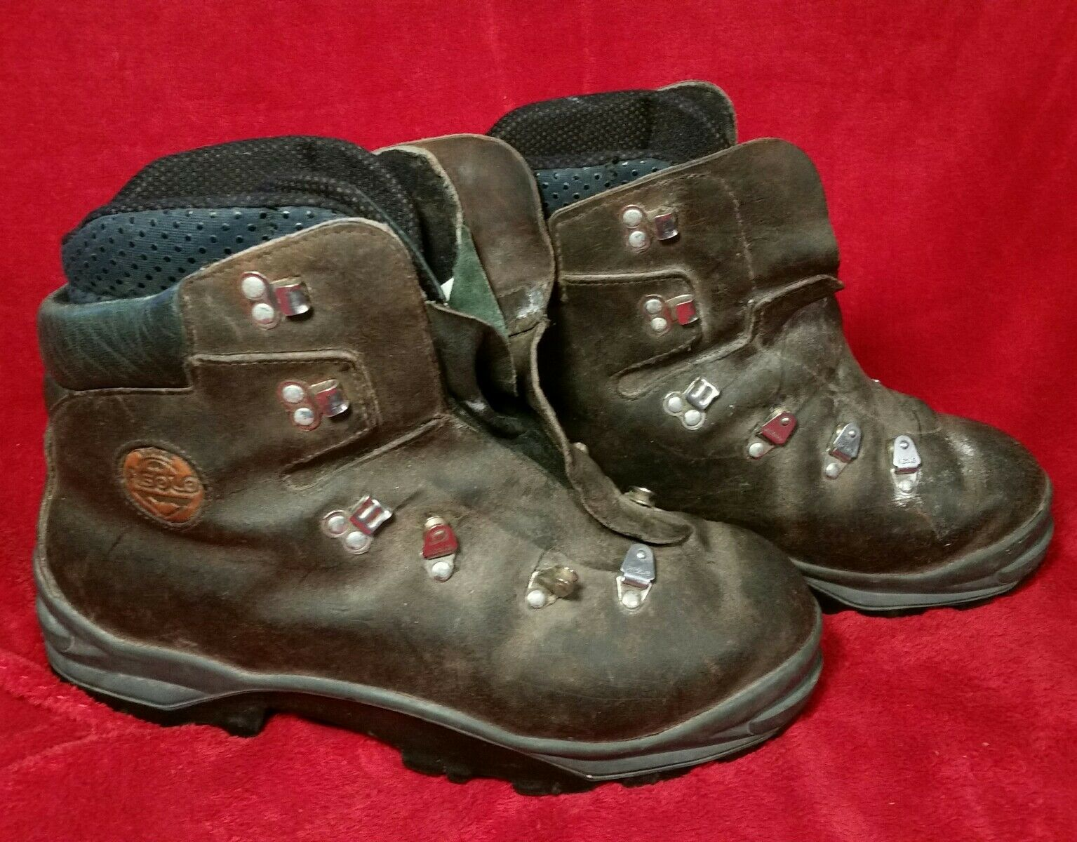 ASOLO  Herren LEATHER DOUBLE TONGUE MOUNTAINEERING Stiefel 10.5  US INNER Stiefel+