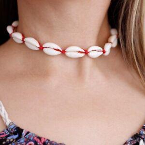 Echte-Muschel-Halskette-Chocker-Gold-Shell-Boho-Blogger-Sommer-versch-Farben