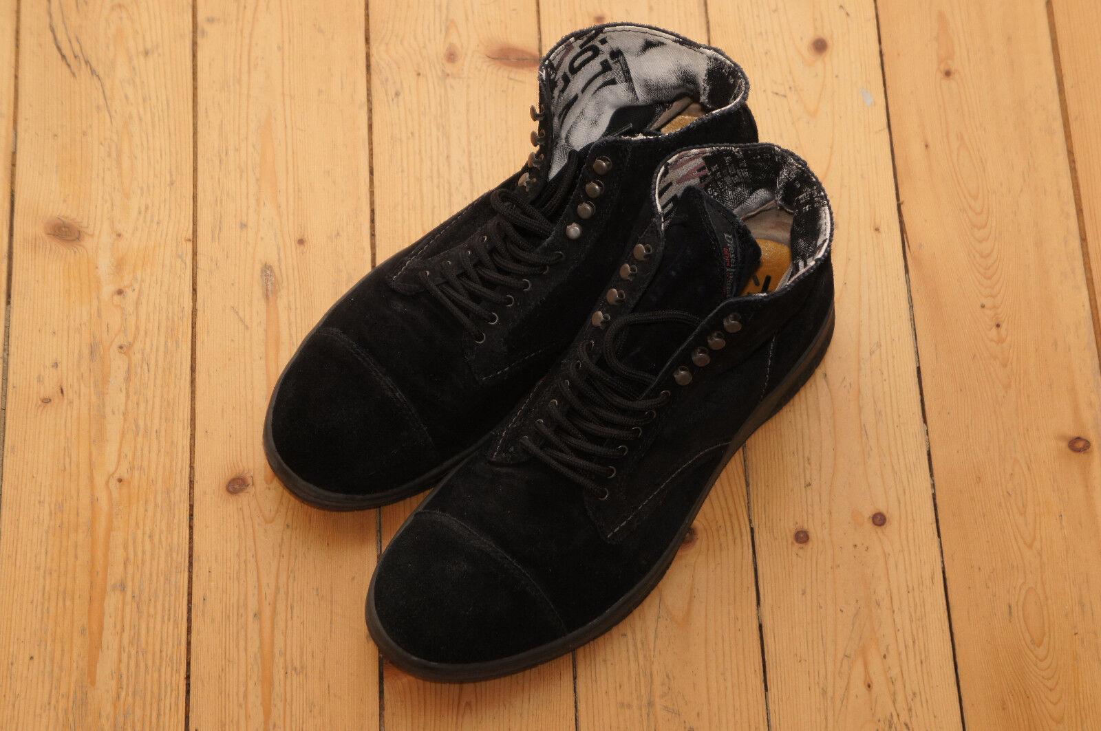 Original DIESEL Schuhe BASKET TATRA Stiefel Boots Herrenschuhe Grösse 43 schwarz