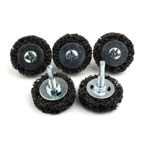 1//2//5pcs Abrasive Wheel Buffing Polishing Pad Kit Grinding Rotary Tool 3mm Shank