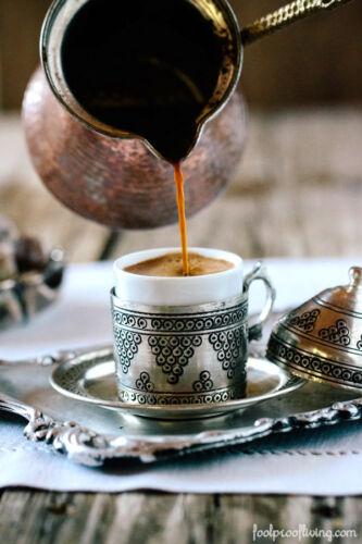 Turkish Traditional Hand Hammered Stove Top Copper Coffee Pot,Greek Ibrik Cezve