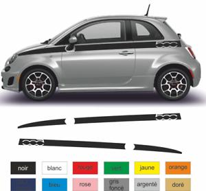 Fiat-500-Autocollant-couleur-au-choix-bandes-stickers-decoration-adhesif
