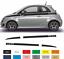 Fiat-500-Autocollant-couleur-au-choix-bandes-stickers-decoration-adhesif miniature 1