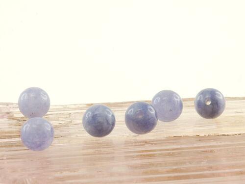 6x Aquamarin-sfere, 6 mm, Viola/5034s